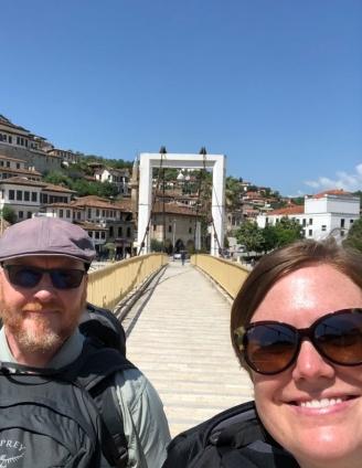 Berat bridge selfie