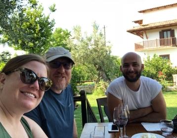 Berat with Miri and wine